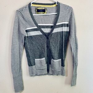 Gray striped cardigan by American Eagle Outfitters